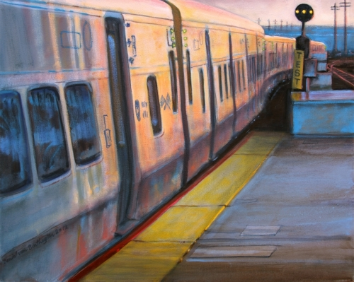Commuter Rail Sunset by Daniel van Benthuysen
