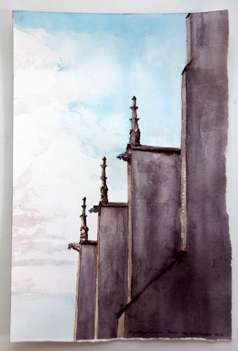 Gargoyles, Eglise Notre Dame, Noyers