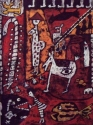 Aboriginal style fantasy watermedial painting on Paper, unframed (thumbnail)