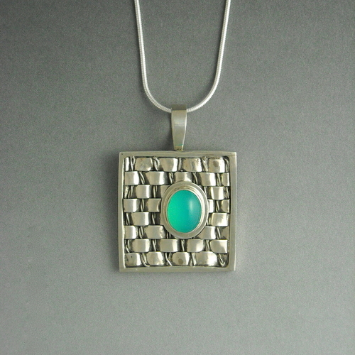Woven Metal Pendant by            Gallery 386