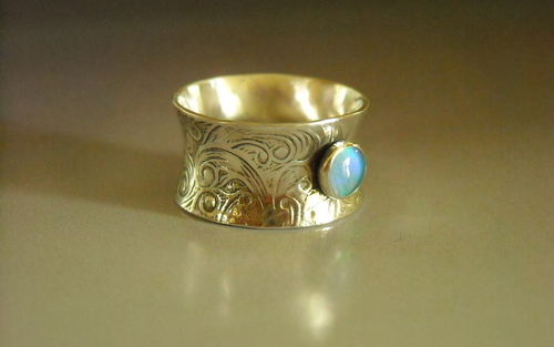 Opal Anticlastic Ring (large view)