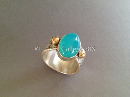 Caribbean Chalcedony Ring