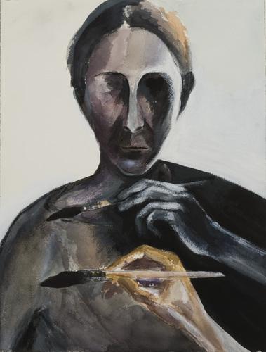Self-portrait, 2006 by Dasha Shkurpela