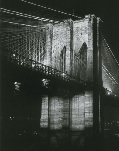 Brooklyn Bridge at Night,1983 by David Anderson