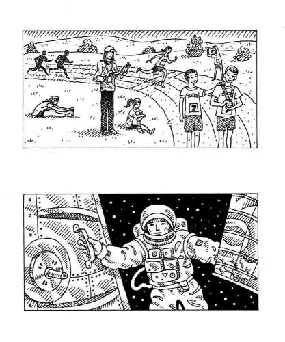 Track Meet and Astronaut