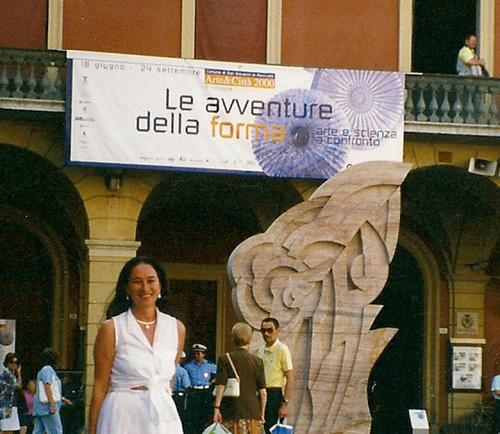 "Banner from the Exhibition ""Le Avventure della Forma"""