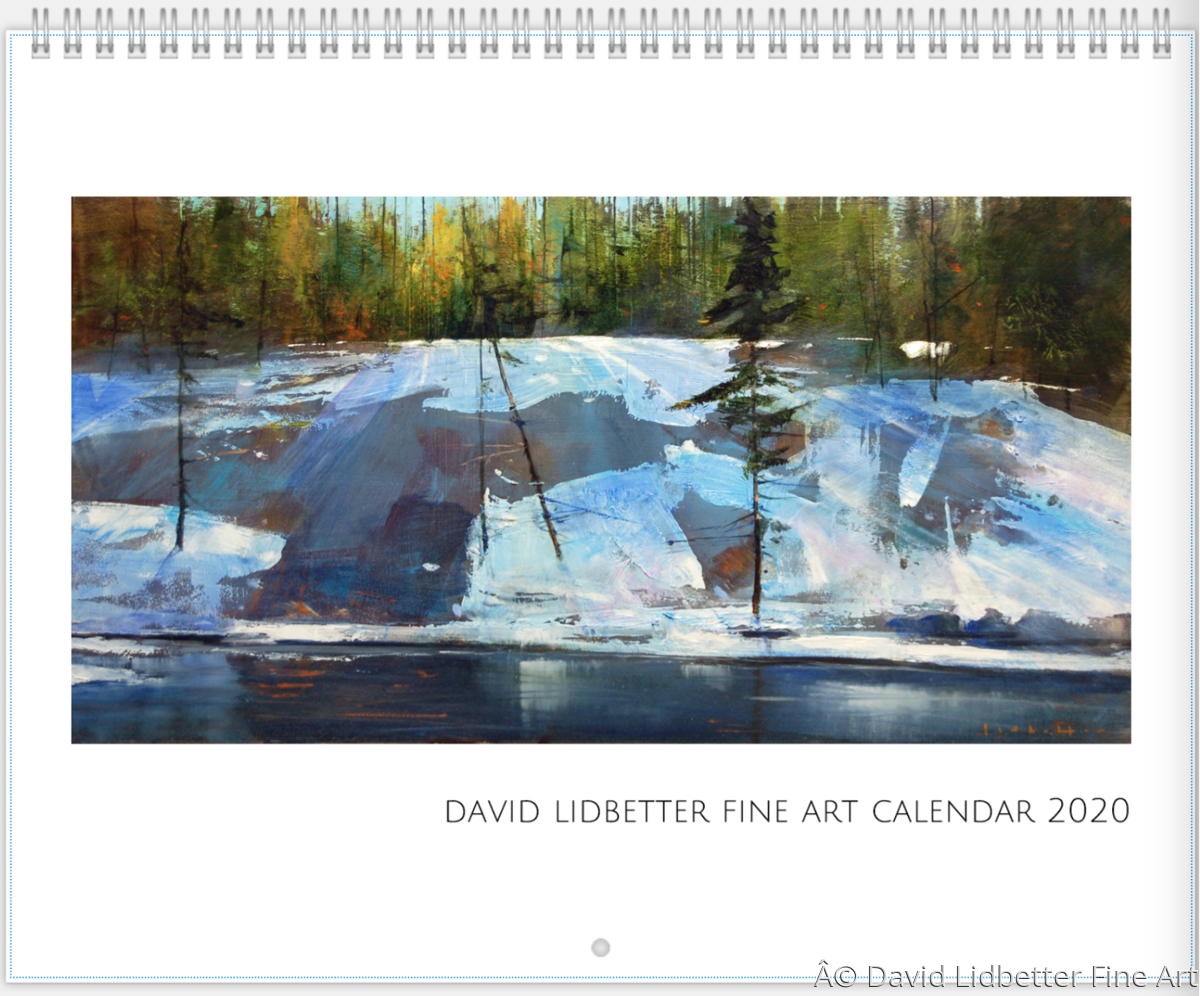 2019 David Lidbetter Calendar (large view)