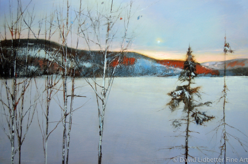 frozen over - gatineau river