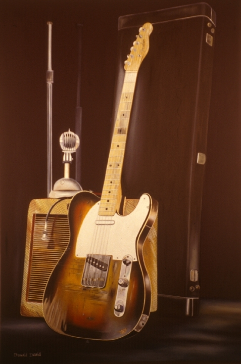 fender, sunburst, worn, relic (large view)