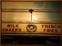 Old diner that is no longer around is now preserved and available for purchase in this oil painting called milk shakes and fries (thumbnail)