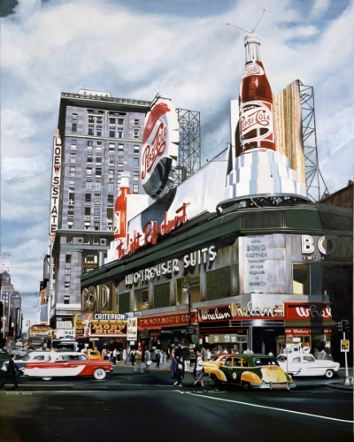Donald B. David 41st street times square new york city in 1953 (large view)
