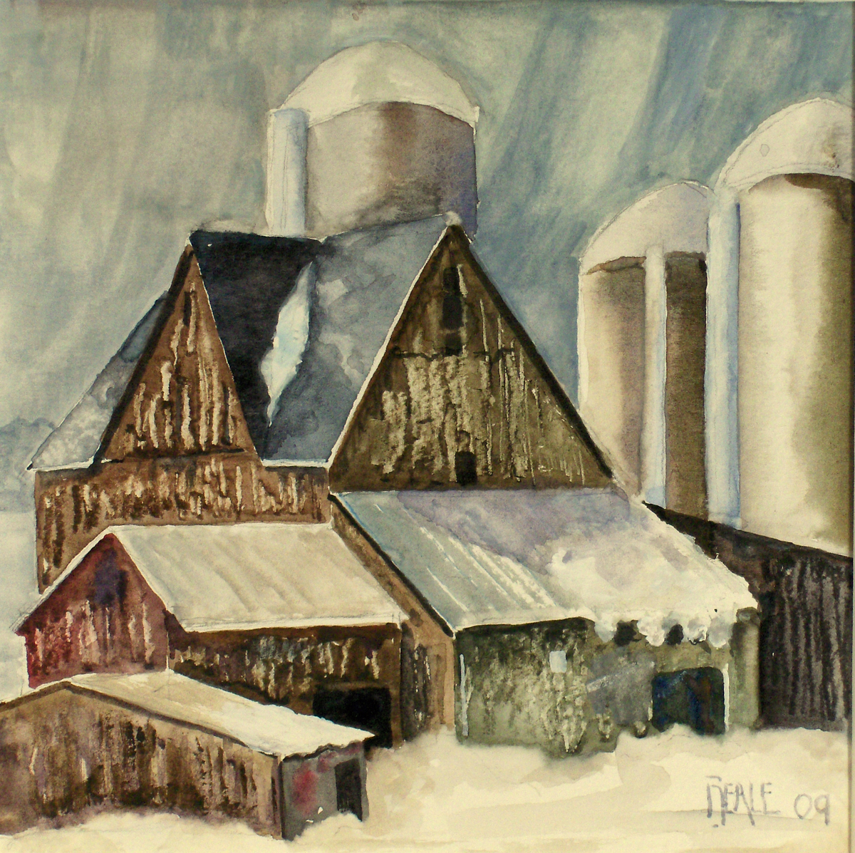 Dairy Barn in Winter (large view)