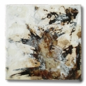 Brown, natural, beige, encaustic, Donald Bustraan, Encaustic in California, California Encaustic Artists, California Abstract Artist, Textural Abstract Art - Abstract Painting