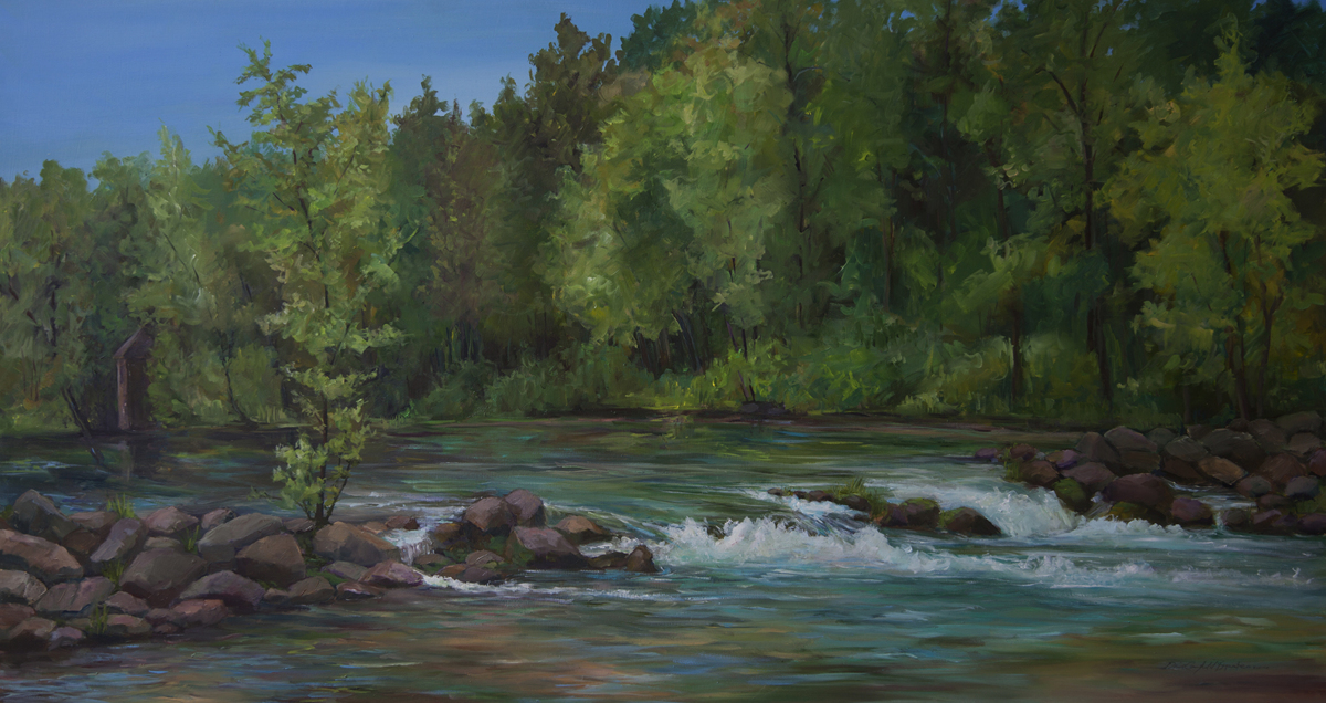 Bennett Spring:  Favorite Place to Paint (large view)