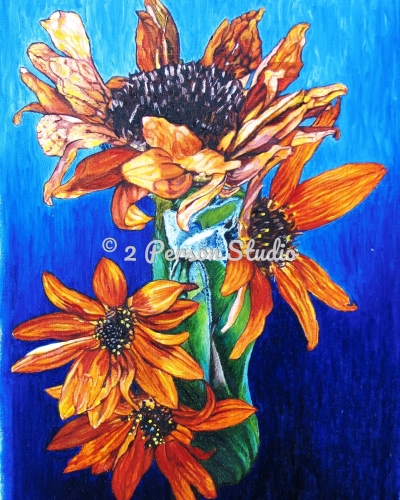 Fall Sunflowers by 2 Person Studio