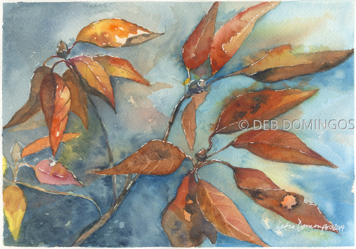 AUTUMN LEAVES by DEB DOMINGOS