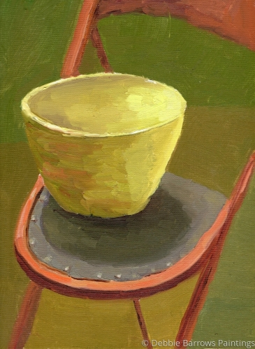 Have a Seat #1 by Debbie Barrows Paintings
