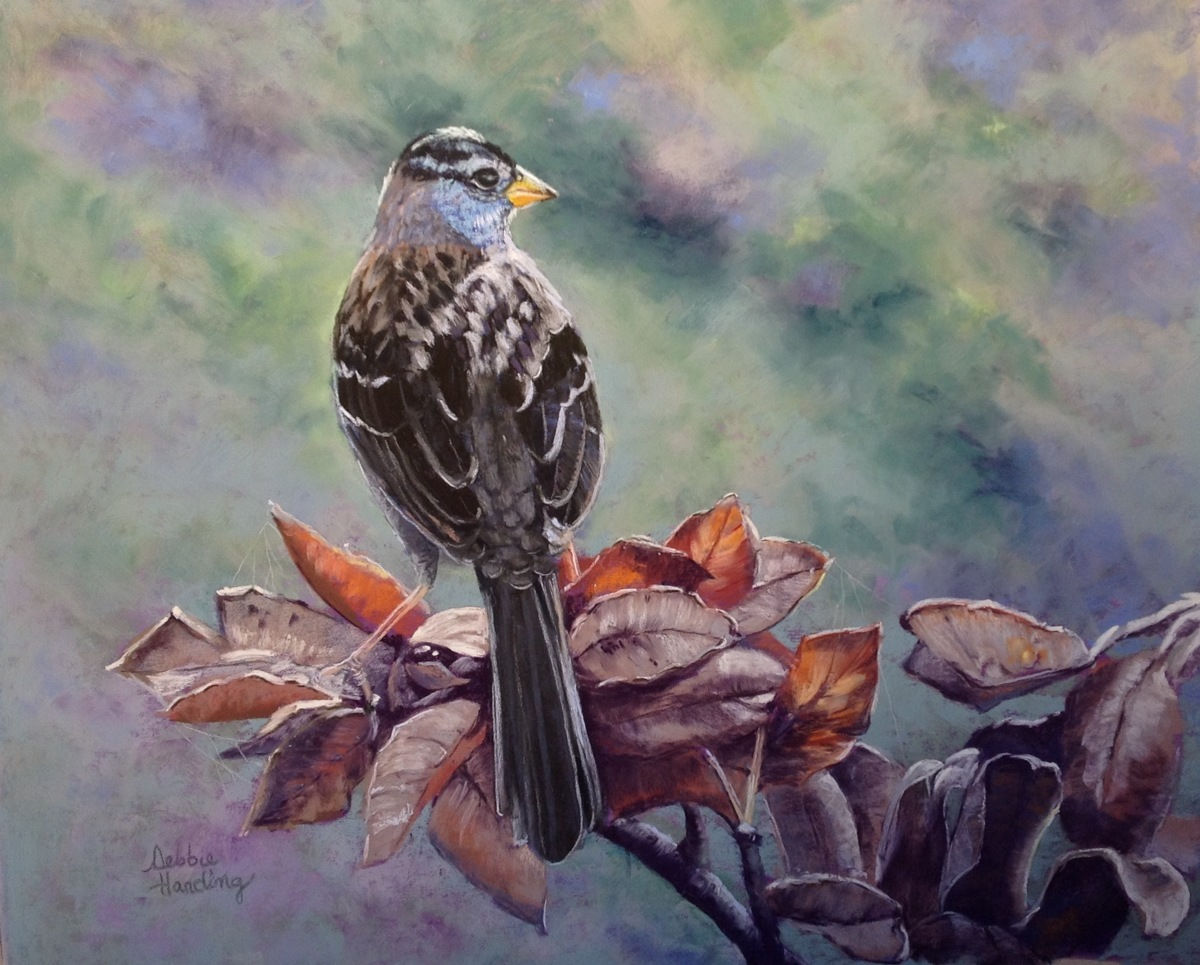 painting    u0026quot consider the sparrow u0026quot   original art by debbie