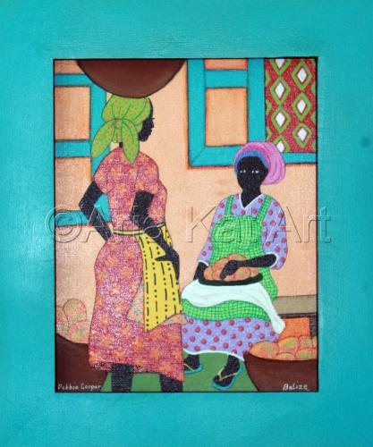 Women with Mangos