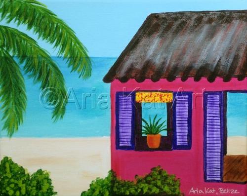 Pink Belize Cabin
