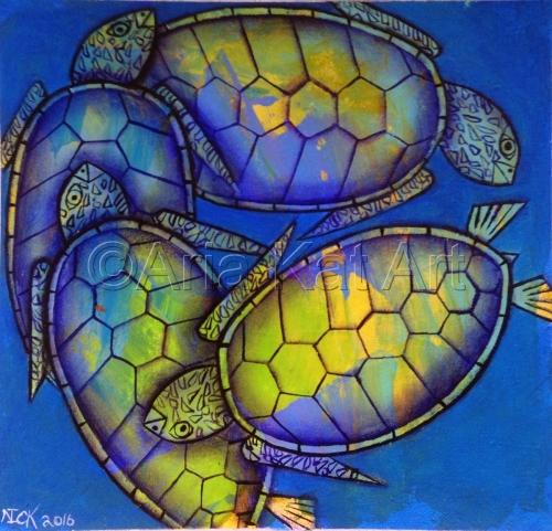 Four Turtles