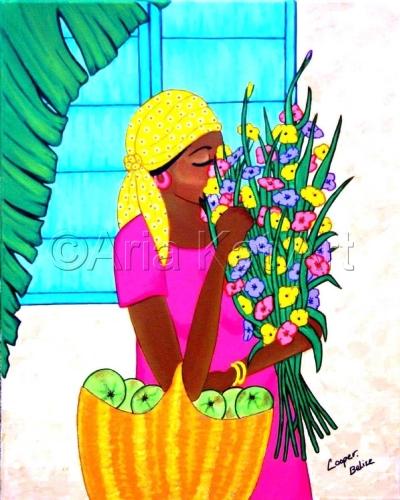 Lady w/ Flowers