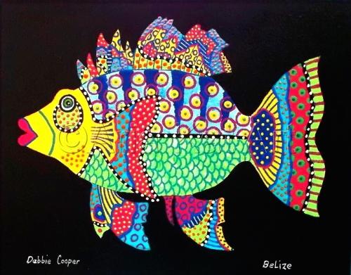 Fish on Black