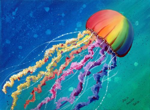 Rainbow Jelly Fish