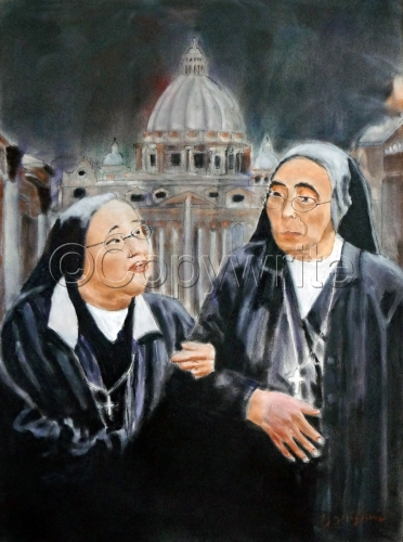 Two Nuns at the Vatican