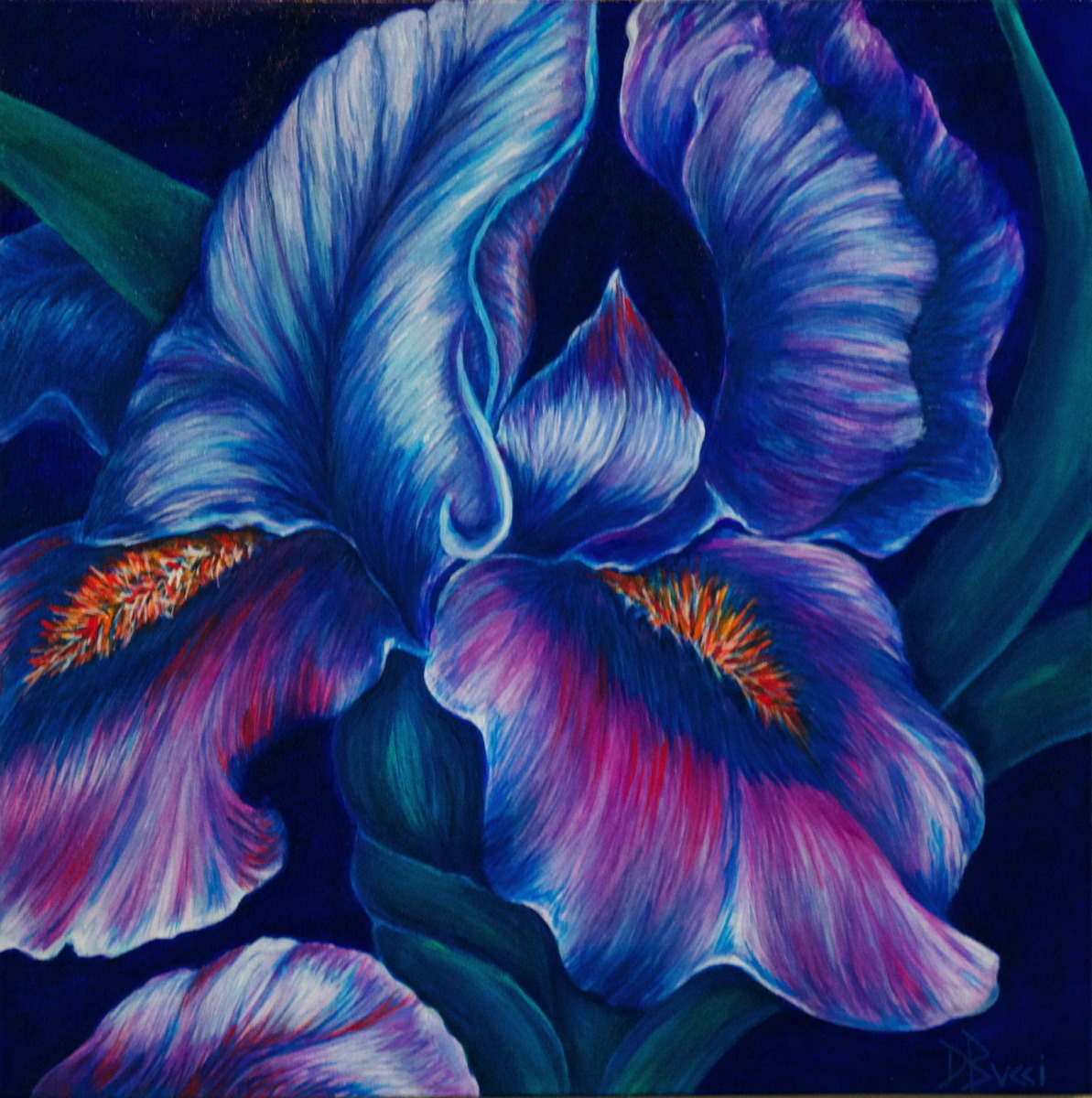 Painting Iris Bold Amp Beautiful Private Collection