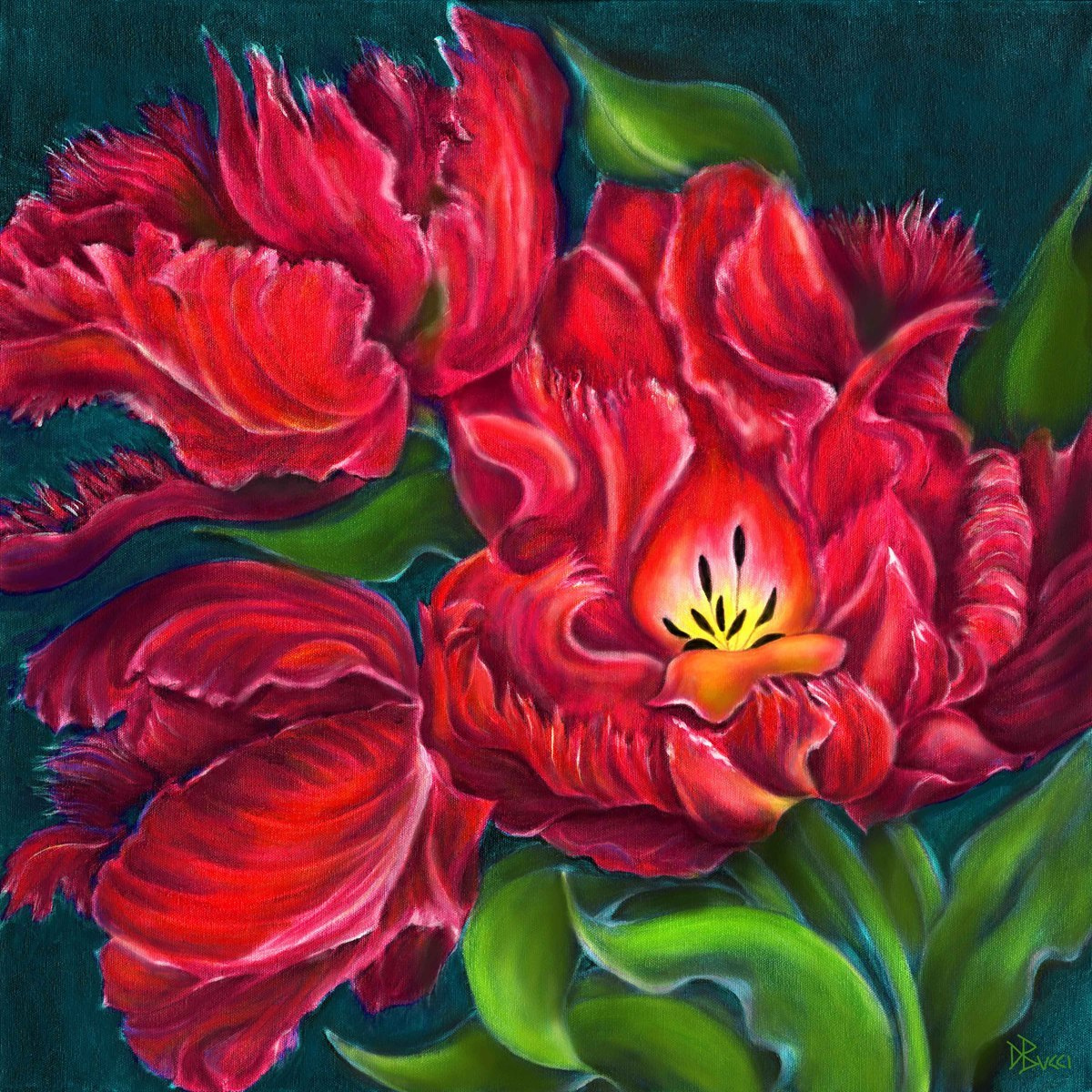 Parrot Tulip Commission - Private Collection (large view)