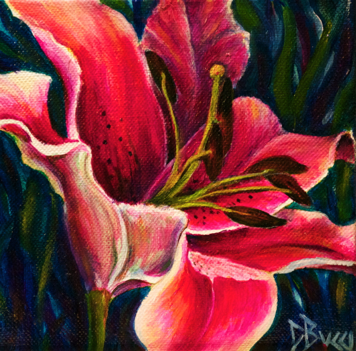 "Pink Lily - ""Pocketbook"" Painting (large view)"