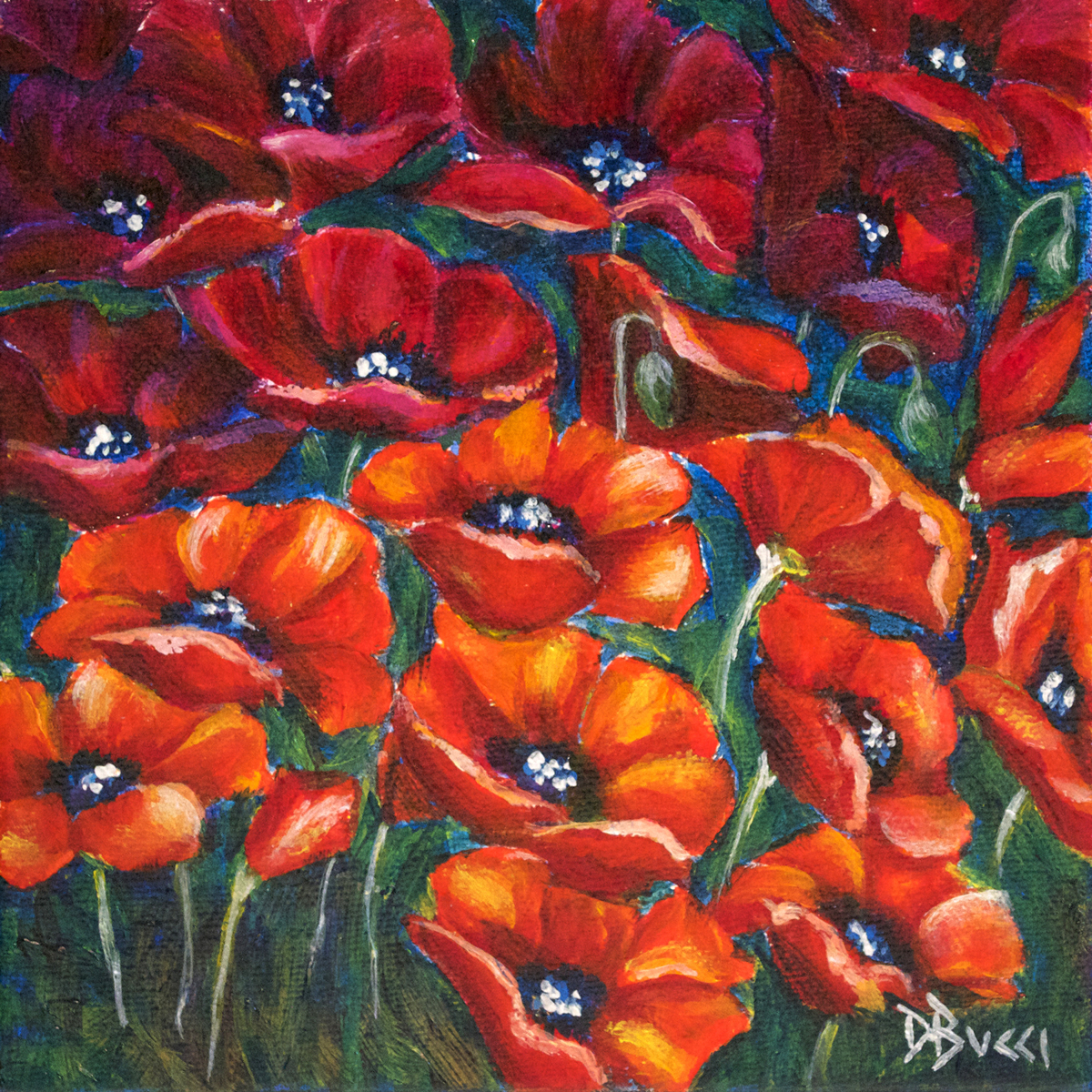 """Team Poppy - """"Pocketbook"""" Painting (large view)"""