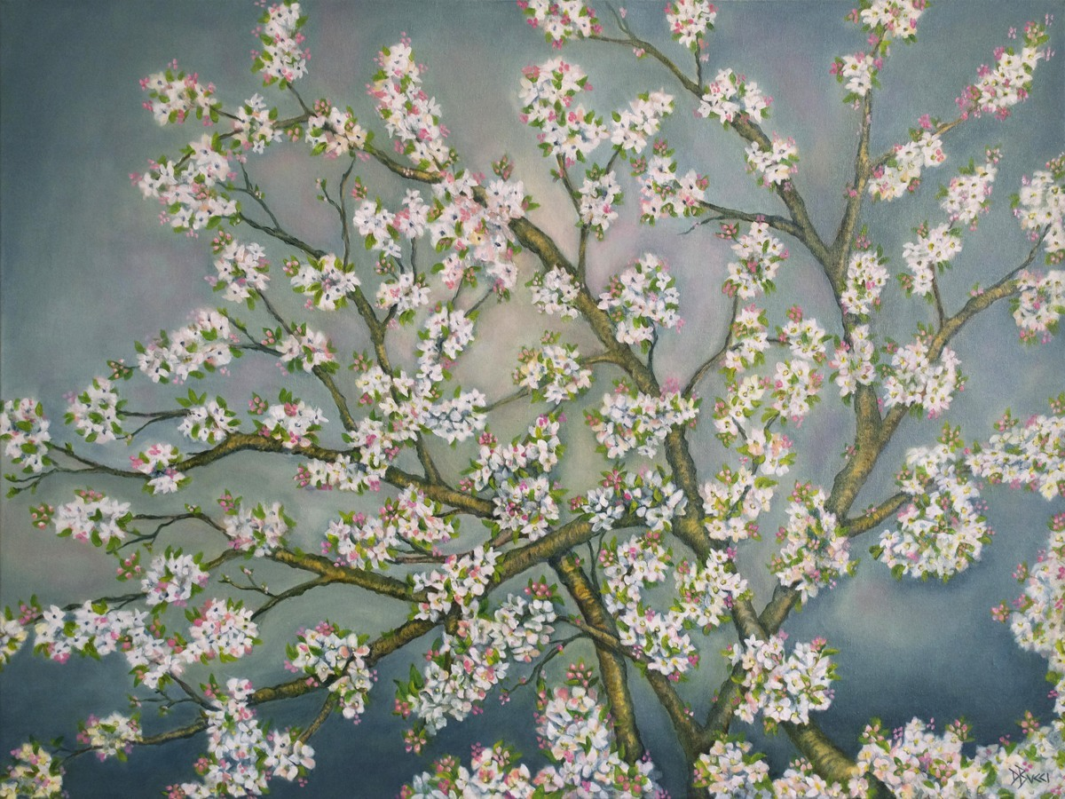 Apple Blossom Branches (large view)