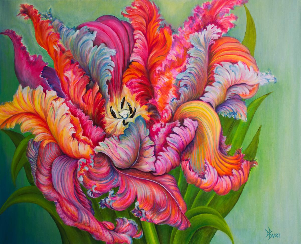 Parrot Tulip Drama (large view)