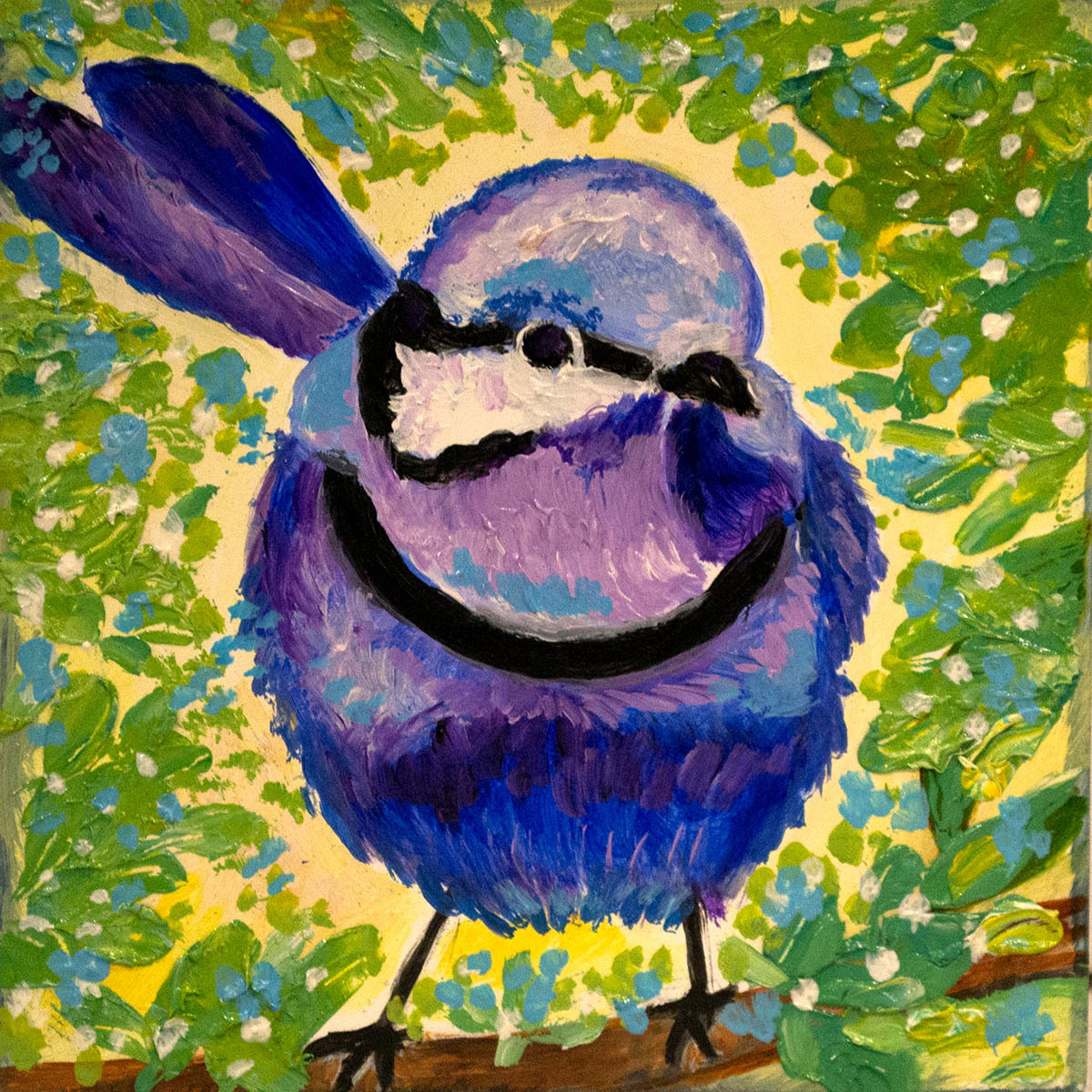 "Fairy Wren 4""x4"" (large view)"