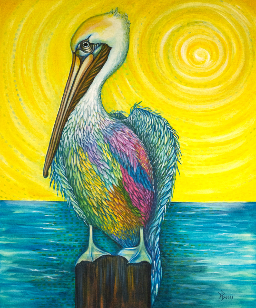 The Grateful Pelican (large view)