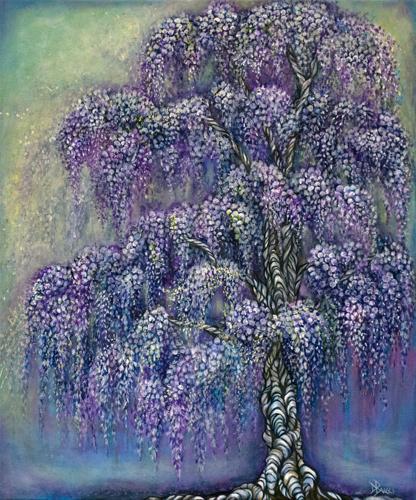Whispering Wisteria by Debra Bucci Fine Art