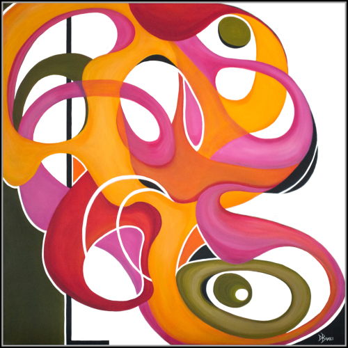 The Abstract Flamingo