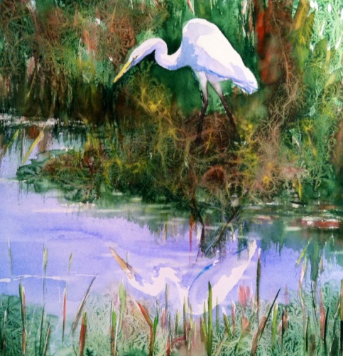 Natural Beauty - II, Great Egret