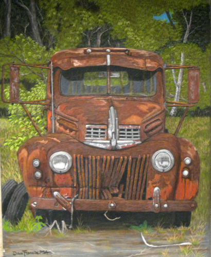 Rust In Peace by Pastels by Master Pastellist Dave Francis, PSA-MP, IAPS MC
