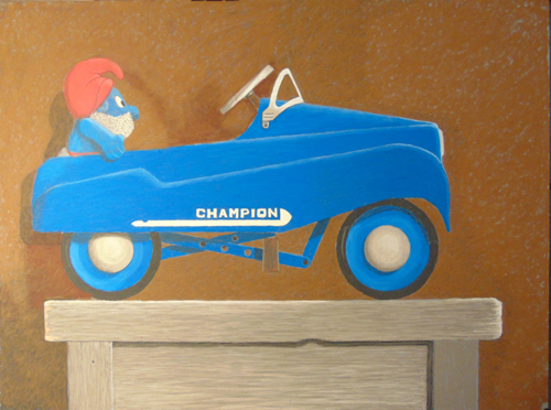 Blue Champion Pedal Car