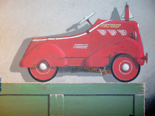 Red Fire Chief Pedal Car