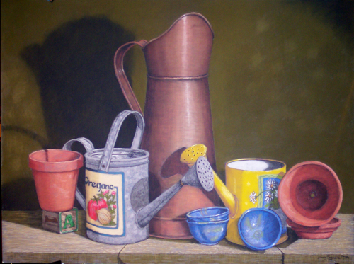 The Big Pitcher by Pastels by Master Pastellist Dave Francis, PSA-MP, IAPS MC