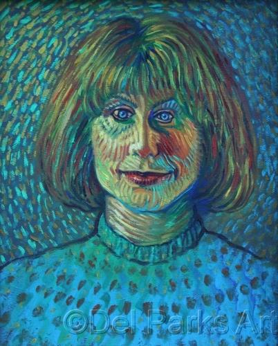 Vicki in the Style of Van Gogh