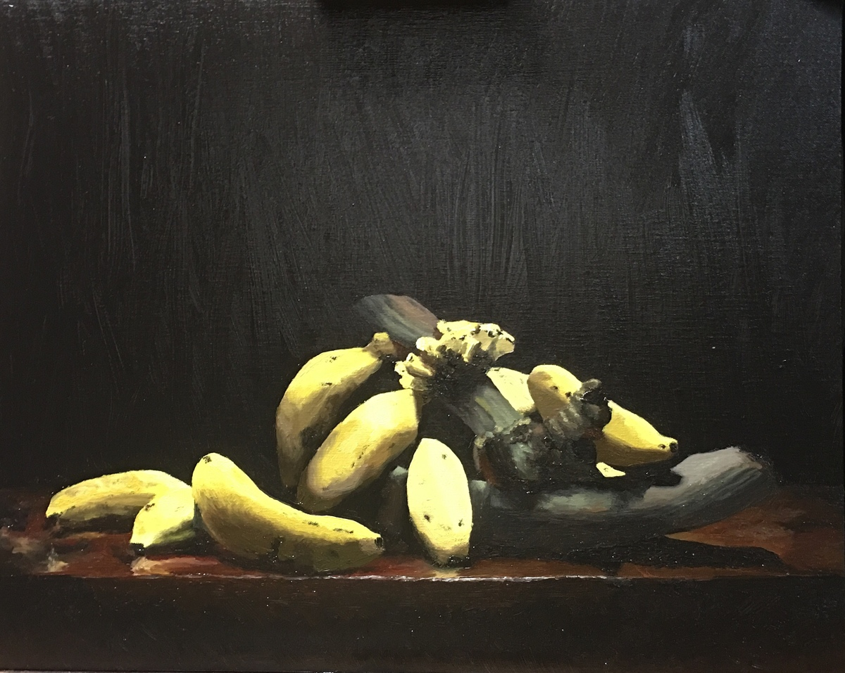 Still life with apple bananas (large view)