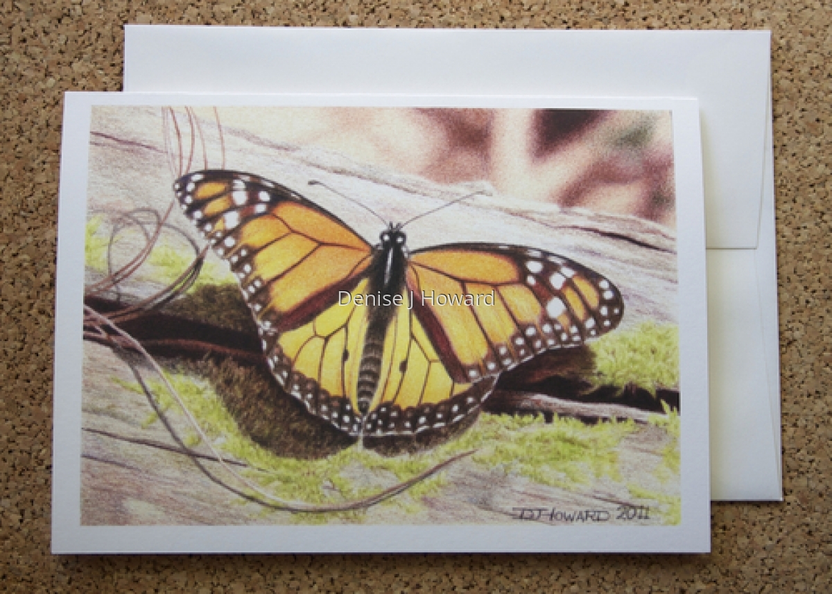 Monarch note card (large view)