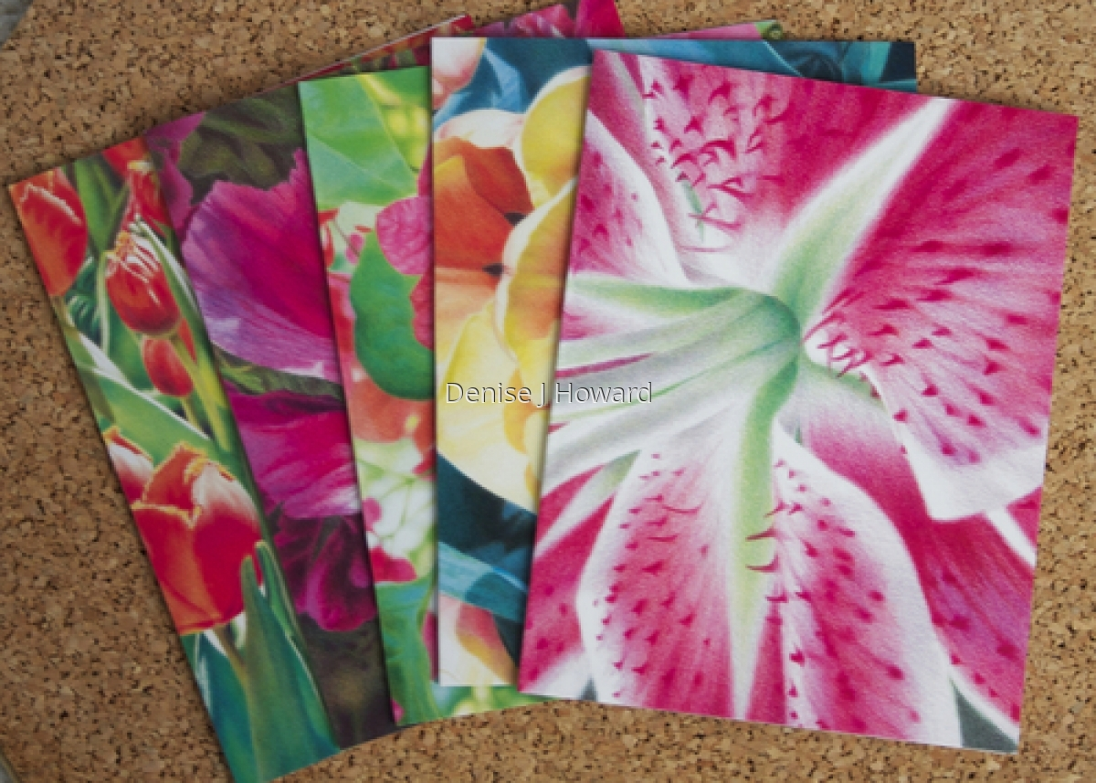 Floral note card variety pack (large view)