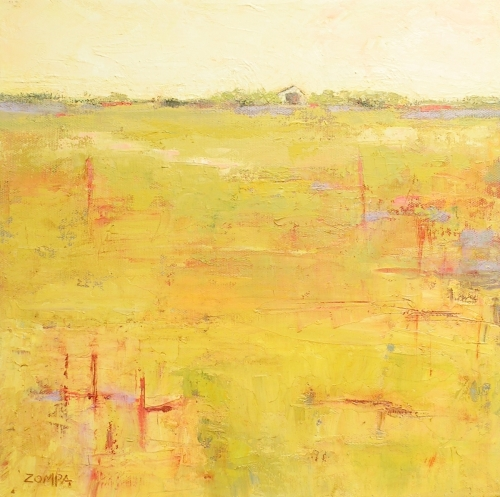 Landscape Oil Paintings Summer Heat By Denise Zompa