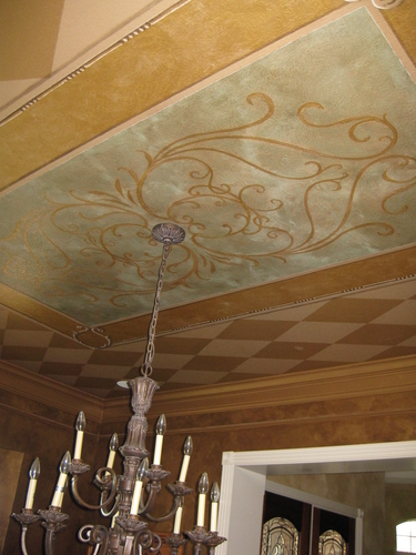 dining room ceiling mural